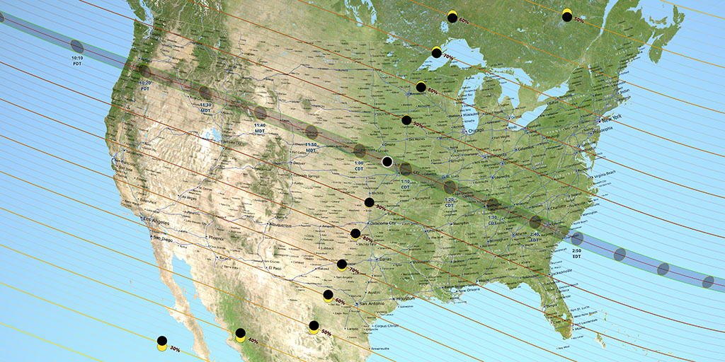 NASA Image - US-  path of totality: August 21, 2017.